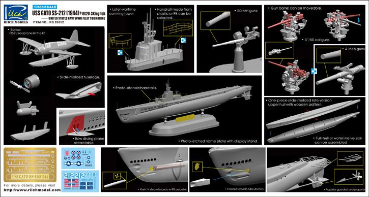 Kuvahaun tulos haulle Riich USS Gato SS-212 (1944) + OS2U-3 Kingfisher